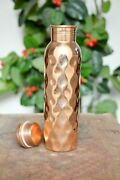 Diamond 900 Ml Copper Bottle Set Of 40 Fast Shipping In 24 Hrs Item Located Usa