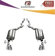 21050 Corsa 304 Ss Axle-back Exhaust System Quad Rear Exit For Mustang 18-20