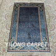Yilong 2.5and039x4and039 Handknotted Silk Carpet Family Room Kid Friendly Area Rug H182b