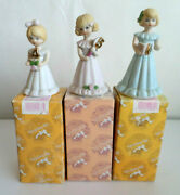 Growing Up Birthday Girls Vintage Enesco Blonde Figurines Ages 45 And 6 1981 Euc