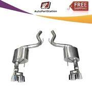 21039 Corsa 304 Ss Axle-back Exhaust System Quad Rear Exit For Mustang 18-19