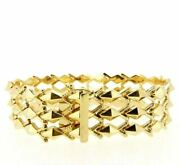 Vintage Bracelet Years' 60 In Yellow Gold Solid 18k Made In Italy