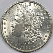 1880-o Morgan Dollar Vam-48 Hangnail Eagle Doubled United 8 - Top 100 - Au