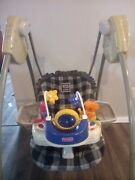 Vintage 2001 Fisher Price Smart Response Plaid Open Top Baby Swing