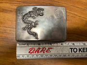 Antique Sterling Silver Chinese Dragon Cigarette Case Holder- 135g In Weight