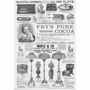 Victorian Adverts, Fry's Cocoa, Maple And Co Furniture - Antique Print 1890