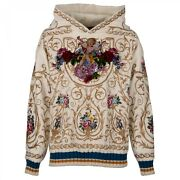 Dolce And Gabbana 6000 Angel Gold Embroidery Velvet Hoody Hoodie White 09545
