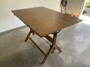 Vintage Hamilton Mfg. Co. Drafting Table - Refinished Top - Great Condition
