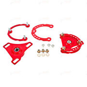 Bmr Caster Camber Plates Red Fits 15-17 S550 Mustang Cp001r