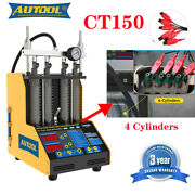 Ultrasonic Auto Fuel Injector Spark Plug Cleaner Without Disassembly 4 Cylinders