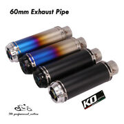 60mm Motorcycle Atv Exhaust Tips Muffler Tail Pipe Short 310mm With Db Killer