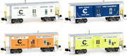 Micro-trains Mtl N-scale Bay Window Chessie System Safety Cabooses Runner 4-pack