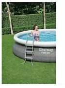 Bestway Fast 15andrsquo X 42andrdquo Round Inflatable Set Above Ground Pool Rattan 57371e