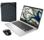 Hp 14 Chromebook Bundle - Intel Celeron - 1080p - Bonus Sleeve And Wireless Mouse