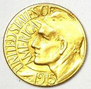 1915-s Panama Pacific Gold Dollar Pan-pac G1 Coin - Au Details Damage