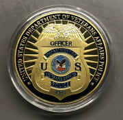 United States Department Of Veterans Affairs Va Police Challenge Coin