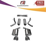 14986 Corsa 304 Ss Cat-back Exhaust System Quad Rear Exit For Challenger 11-17