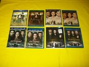 The Twilight Saga Eclipse New Moon Breaking Dawn Part 1 And 2 Bluray + Slipcover
