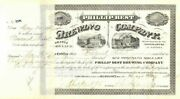 Charles Best And Frederick Pabst - Philip Best Brewing Company Stock Certificate