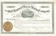 Old Channel Placer Mining Company - Stock Certificate