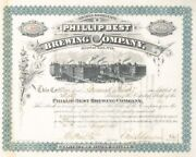 Frederick Pabst Charles Best - Phillip Best Brewing Co - Stock Certificate