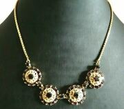 Vintage Necklace Years' 50 In Yellow Gold Solid 18k Made In Italy With Garnets