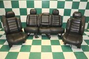 05-07 H2 Black Leather Heated Power Front Buckets Backseat Bench Seat Set Oem