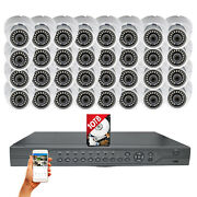 32 Pcs 1080p Hd Outdoor Cctv Security Camera 32 Ch Surveillance System With 10tb