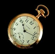 Rare Antique Railroad 18s 23j Waltham Vanguard Pocket Watch Serviced Mint