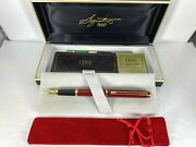 Cross Signature Burgundy Lacquer Fountain Pen With 22k Gold Appointments 6106