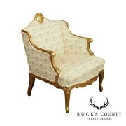 French Louis Xv Style Antique Gilt Frame Bergere Chair