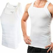 Different Touch Menand039s G-unit Style Tank Tops Square Cut Muscle Rib A-shirts Pac