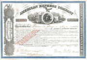 Henry Wells And James C. Fargo - American Express Co - Stock Certificate Uncanc