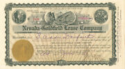 Nevada-goldfield Lease Company - Stock Certificate Set Of 3