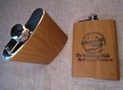 Wood Flask | Personalized 8oz Stainless Steel With Wood Veneer | Customized