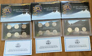 2004-2005-2006 Westward Journey Nickel Series Coin Sets W. Boxes And Coas Usmint