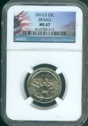 2012-s Denali National Parks Uncirculated Quarter Ngc Ms67 Quality ✔️