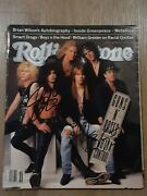 Axl Rose And Slash Guns N Roses Autographed Signed 1991 Rolling Stone Magazine