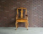 Antique French Carved Arm Chair French Provincial Chair Dining Arm Chair