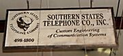 Double Sided Wood Southern States Telephone Co. Sign