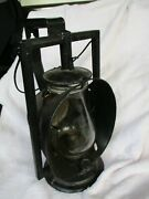 1900and039s Wheeling And Lake Erie Dietz Acme Inspector Lamp Railroad Lantern