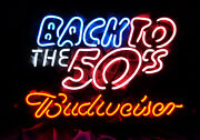 Back To The 50's Man Cave Vintage Bar Shop Room Wall Decor Neon Light Sign