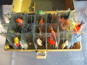 Vintage Bass Anglers Members Lures 41 Pieces Collection And Unique Tackle Box