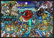 1000 Piece Jigsaw Puzzle Little Mermaid Stained Glass [pure White] 51x73.5cm