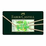 Faber-castell Pitt Pastel Colored Pencils 60 Color Set Canned 112160