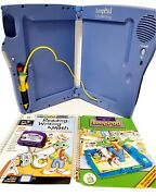 Leap Frog Leappad Learning System Plus Writing Electronic Pad And Pen W/ 2 Books