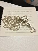 Icon Lagos Caviar Sterling Silver Key Pendant 34 Beaded Necklace. Buy Now