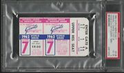 1962 World Series Game 7 Ticket Stub Psa 4 - Yankees Clinch 20th Title