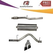 21030blk Corsa 304 Ss Cat-back Exhaust System With Dual Side Exit For Chevy/gmc