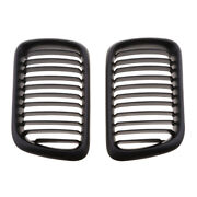 1 Pair Car Plastic Front Grill Grille Mesh For Bmw E36 M3 1997-1999